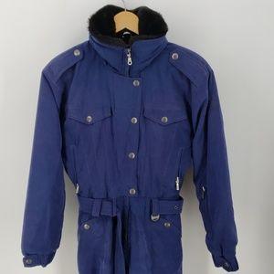 NILS Womens Blue Ski Suit Size 8 Petite